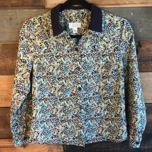 Christopher & Banks | Floral Button down Blouse